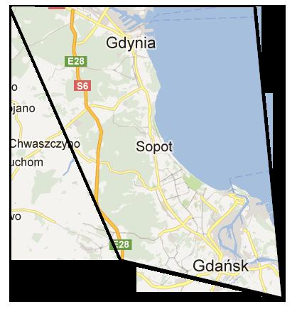 Mapa trójmiasta